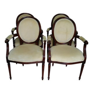 French Louis XIV Style Dining Armhairs - Set of 4