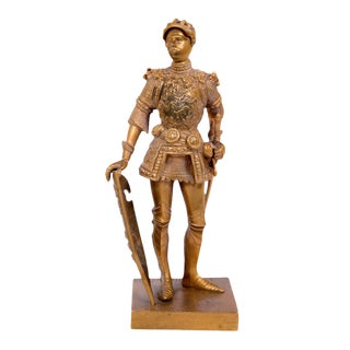 Old Gilt Bronze Knight