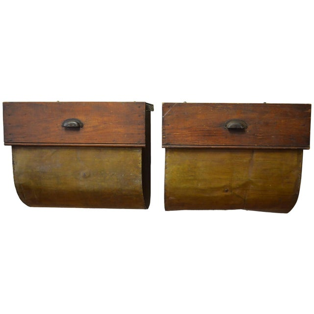 Side Tables Possum Belly Drawers - Pair - Image 1 of 10