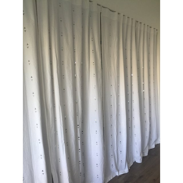 Embroidered Jewelry White Curtains - Set of 4 - Image 3 of 5