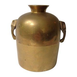 Brass Elephant Vase