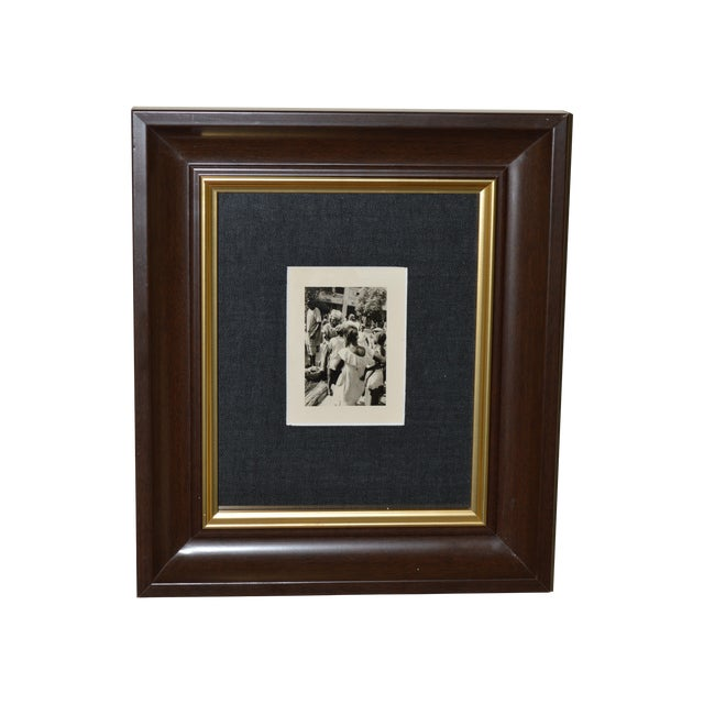 Image of Vintage African Market Scence B&W Photograph