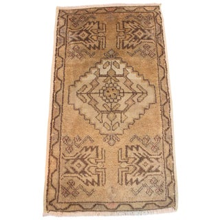 Decorative Turkish Oushak Rug - 1′8″ × 3′