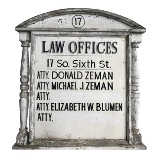 Vintage Law Sign