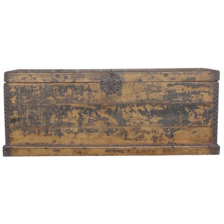 19th Century Wooden Merchant Trunk