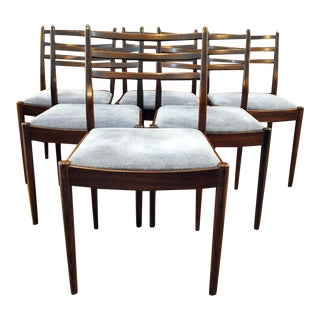 Danish Inspired Mid-Century Teak Dining Chairs - Set of 6