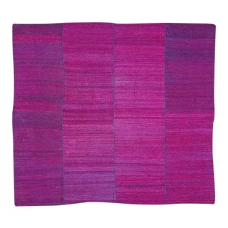 Magenta Silk and Indigo Coverlet