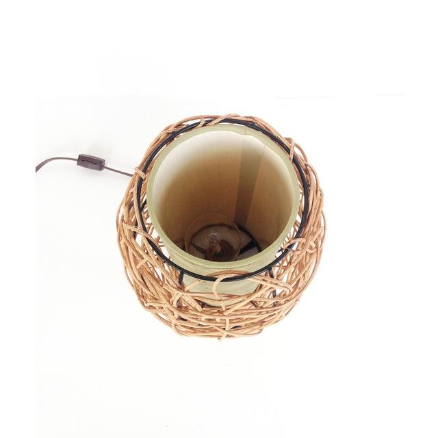 Midcentury Rattan Beehive Table Lamp - Image 5 of 5