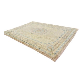 Palatial Antique Plush French Aubusson Pile Rug - 11′11″ × 16′10″