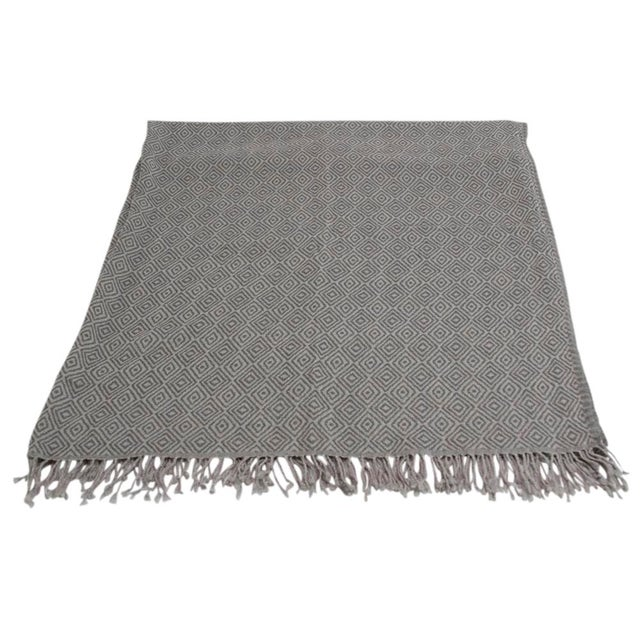 Diamond Patterned Jammu Throw - Image 5 of 5
