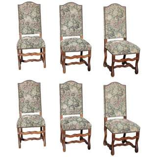 Louis XIII Style Os De Mouton Dining Chairs, circa 1880- Set of 6
