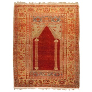 Early 20th Century Oushak Prayer Rug