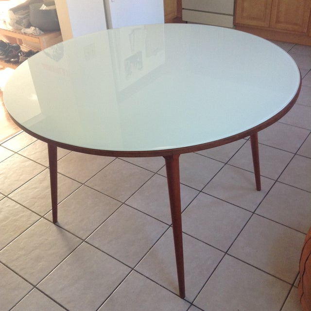 Thos Moser Round Dining Table - Image 8 of 10