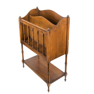 Vintage Mahogany Wood Magazine Rack