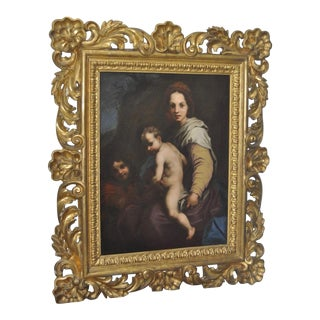Antique 19th C. Master Painting in Gilded Frame