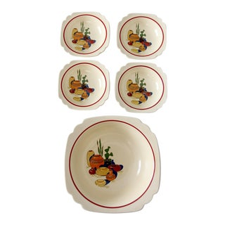 Homer Laughlin Mexicana decalware bowl set
