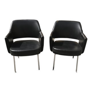 Circa 1950s French Mid-Century Club Chairs - A Pair