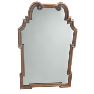 QUEEN ANNE MIRROR WITH DISTRESSED FINISH BY LABARGE, CIRCA 1960S