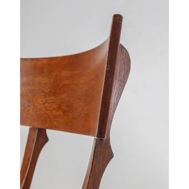 Ole Peter Momme Oak and Cane Klismos Chair, Denmark, 1880s - Image 8 of 10