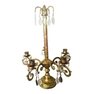 Anglo-Indian Copper Gilded Candelabra