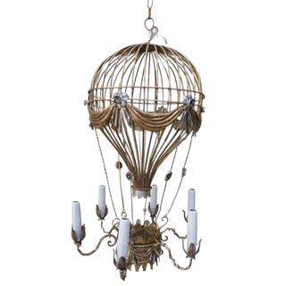 Italian Gilt Metal Balloon Chandelier