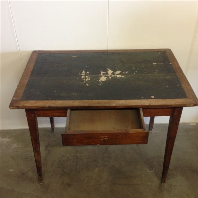 French Vintage Desk With Drawer - Image 3 of 10
