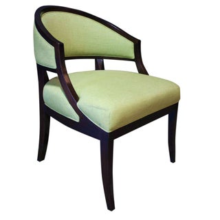 Hickory Chair Claude Chair in Chartreuse Linen