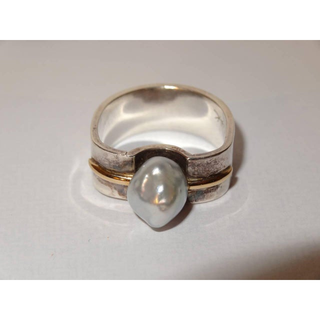Image of Natural Pearl or Gold and Sterling Silver Ring by Kerber Design