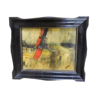 Framed Abstract Painting on Canvas