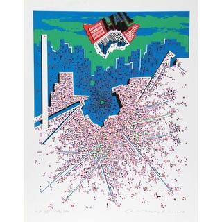 """Risaburo Kimura, """"City 380,"""" Silkscreen"""
