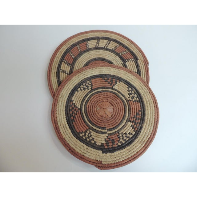 Vintage African Placemats or Wall Accents - A Pair - Image 3 of 4