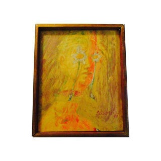 Mid-Century Modern Abstract Expressionism Allan Blizzard Painting 1963