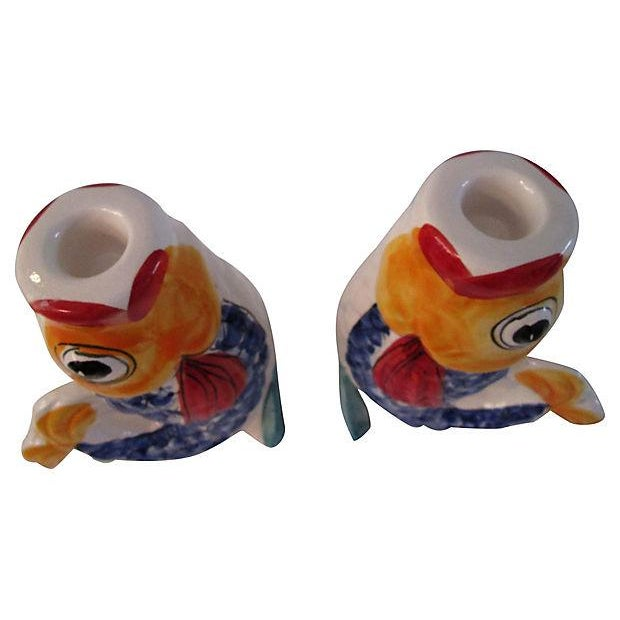 Image of Vintage Portuguese Fish Candle Holders - A Pair