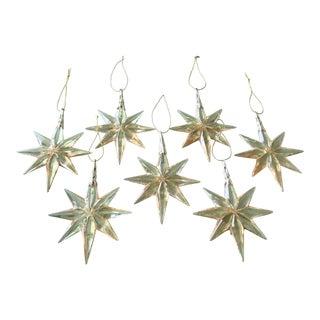 MCM Lucite Star Christmas Ornament Set