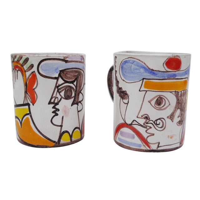 Ceramic Desimone Mugs - Pair - Image 1 of 7