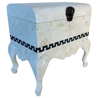 Maitland Smith Tessellated Footed Standing Chest