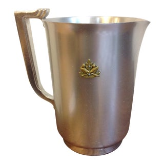 Vintage Aluminum Water Pitcher