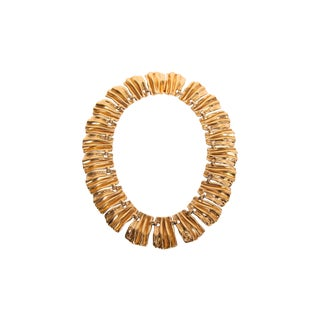 Ciner Golden Wavey Necklace