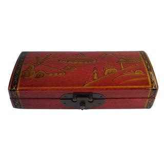 Chinese Oriental Red Rectangular Box