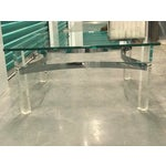 Image of Mid-Century Lucite & Chrome Coffee Table