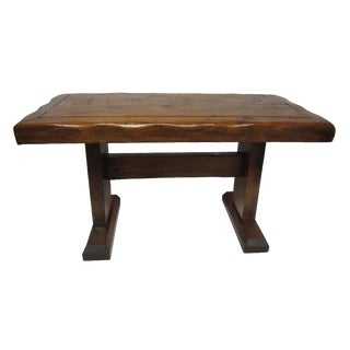 Vintage Rustic Hand Crafted Low Bench