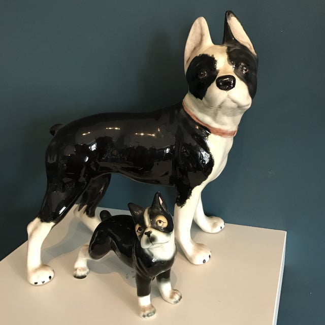 Vintage Ceramic Boston Terriers - A Pair - Image 3 of 5