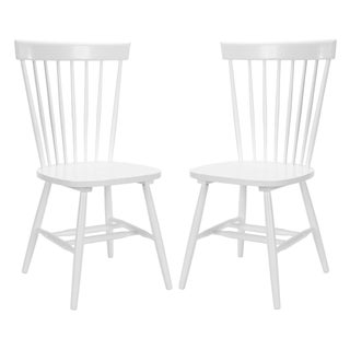 Parker Oak Wood Dining Chairs - A Pair