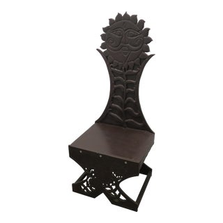 Craftsman Carved Wooden Chair