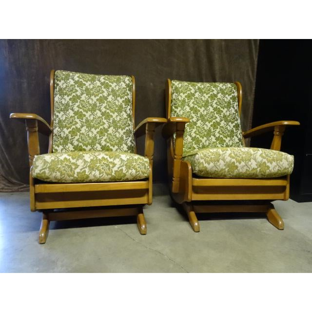 Mid-Century Cushman Style Colonial Platform Rocking Chairs - A Pair - Image 6 of 8