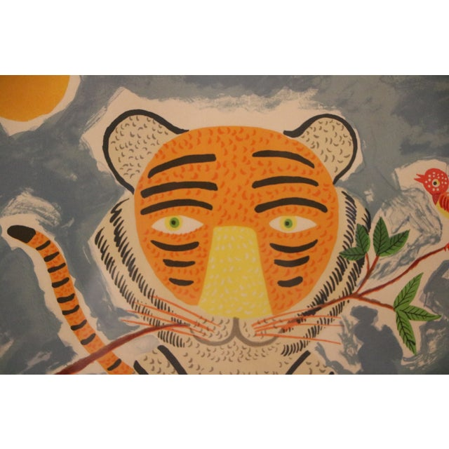 Tiger & Bird Lithograph by Henri Maik - Image 4 of 8