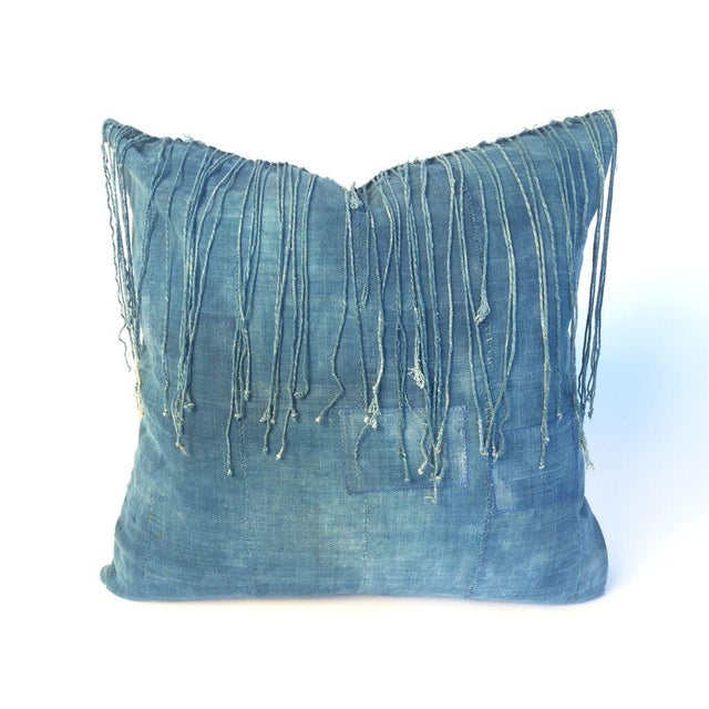Vintage African Indigo Pillow - Image 2 of 3