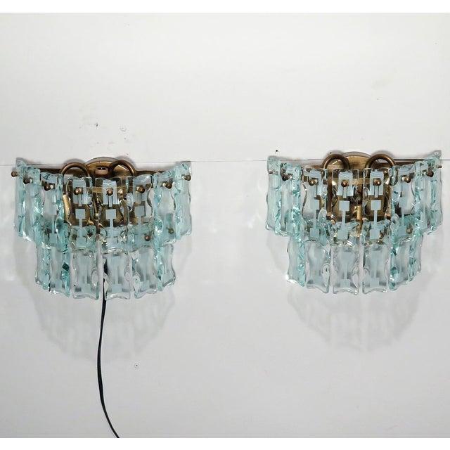 Mid-Century 3 Light Sconces - A Pair - Image 9 of 9