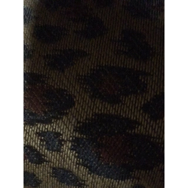Faux Leopard Skin Upholstered Ottoman - Image 5 of 5