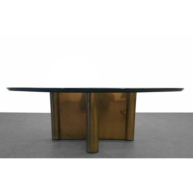 Patinated Bronze Mid Century X Base Coffee Table Chairish